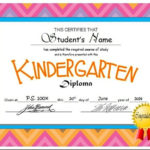 Kindergarten & Pre K Diplomas (Editable) | Kindergarten In Unique 10 Free Editable Pre K Graduation Certificates Word Pdf