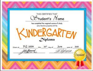 Kindergarten & Pre-K Diplomas (Editable)   Kindergarten in Unique 10 Free Editable Pre K Graduation Certificates Word Pdf