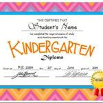 Kindergarten & Pre K Diplomas (Editable)   Kindergarten Intended For Unique Editable Pre K Graduation Certificates