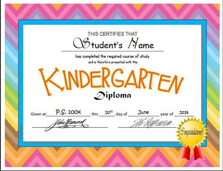 Kindergarten & Pre-K Diplomas (Editable)   Kindergarten intended for Unique Editable Pre K Graduation Certificates