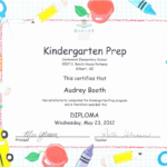 Kindergarten Promotion Certificates Toha Pertaining To For Unique Certificate Of School Promotion 10 Template Ideas