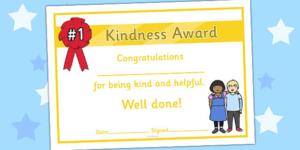 Kindness Award Certificate | Award Certificates, Award intended for Unique Certificate Of Kindness Template Editable Free