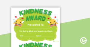Kindness Award Certificate inside Kindness Certificate Template Free