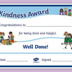 Kindness Award Certificate Throughout Quality Kindness Certificate Template 7 New Ideas Free