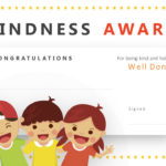 Kindness Award Powerpoint Certificate – Pslides Intended For Fresh Kindness Certificate Template Free