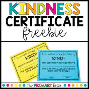 Kindness Award Worksheets & Teaching Resources | Tpt pertaining to Certificate Of Kindness Template Editable Free