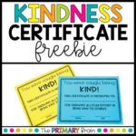 Kindness Certificate Award Intended For Kindness Certificate Template Free