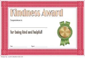 Kindness Certificate Template 02 | Certificate Templates inside Unique Certificate Of Kindness Template Editable Free