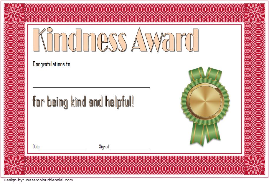 Kindness Certificate Template 02 | Certificate Templates pertaining to Fresh Kindness Certificate Template Free