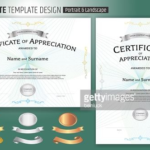 Landscape Certificate Templates (6) – Templates Example Intended For Unique Landscape Certificate Templates