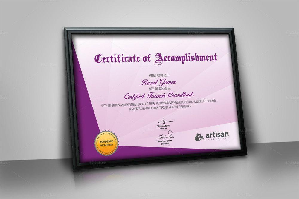Landscape Size Certificate Of Attendance Template intended for Unique Landscape Certificate Templates