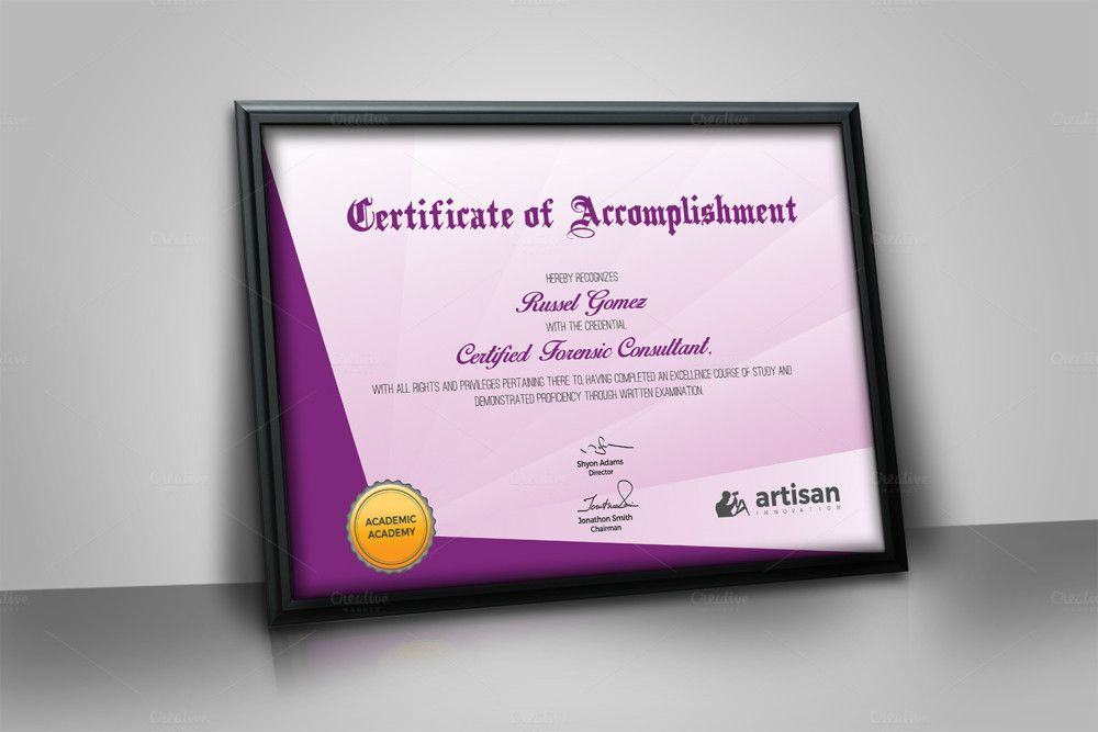 Landscape Size Certificate Of Attendance Template with New Certificate Template Size
