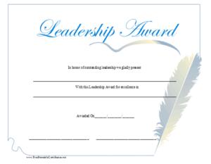 Leadership Award Certificate Printable Certificate with New Leadership Award Certificate Template