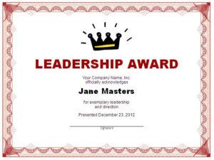 Leadership-Award-Certificate-Printable intended for Quality Leadership Award Certificate Templates