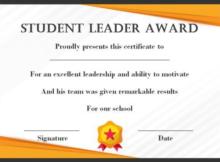 Leadership Award Certificate Template (7) - Templates in Leadership Award Certificate Templates