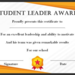 Leadership Award Certificate Template (7) - Templates pertaining to Best Leadership Award Certificate Template