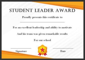Leadership Award Certificate Template (7) – Templates regarding Student Leadership Certificate Template