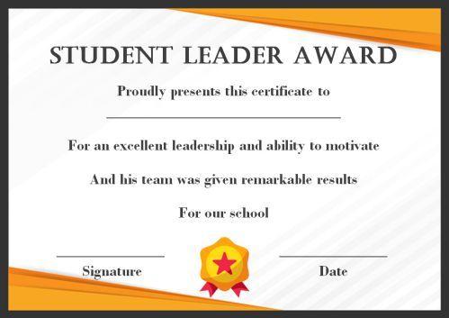 Leadership Award Certificate Template (7) - Templates with Fresh Student Leadership Certificate Template Ideas