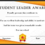 Leadership Award Certificate Template (7) - Templates with regard to Leadership Award Certificate Template