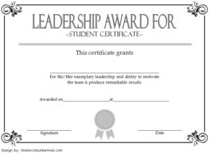 Leadership Award Certificate Template 8 – Best Templates pertaining to Student Leadership Certificate Template Ideas