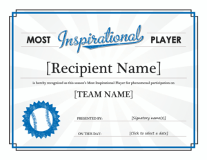 Leadership Award Template – Blue Layouts in Outstanding Student Leadership Certificate Template Free