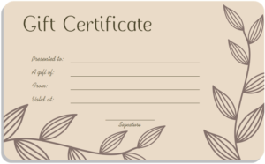 Leafy-Art-Gift-Certificate-Template-Word | Free Gift pertaining to Spa Day Gift Certificate Template