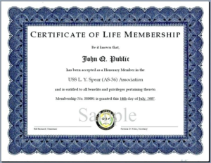 Life Membership Certificate Templates (3) – Templates intended for Unique Life Membership Certificate Templates