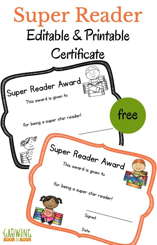 Literacy Printable Certificates That You Can Edit! | Reading pertaining to Fresh Super Reader Certificate Templates