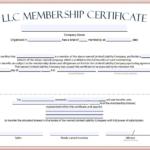 Llc Membership Certificate Template Word (1) - Templates for Llc Membership Certificate Template Word