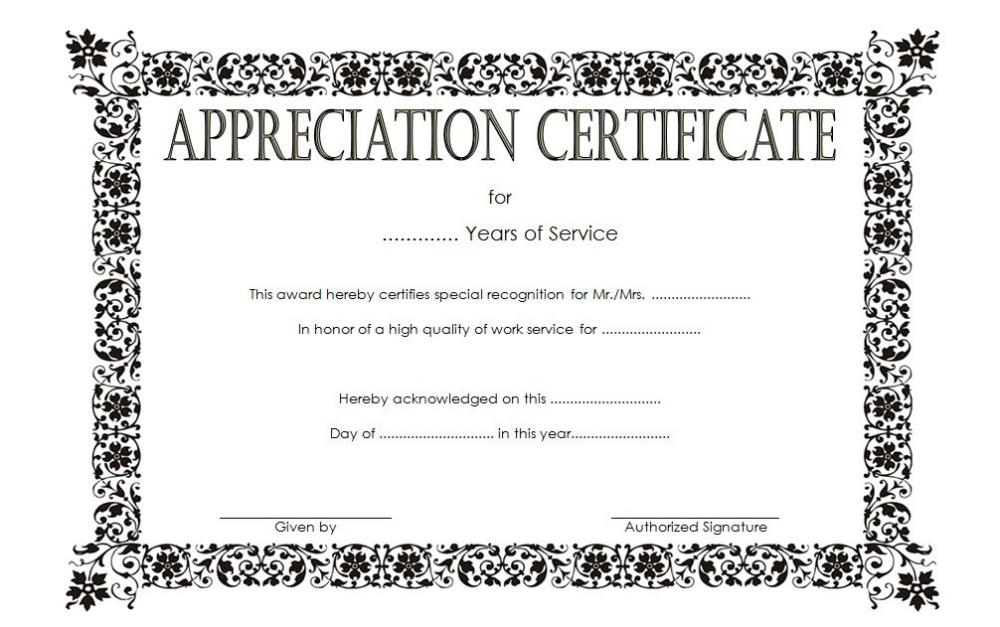Long Service Award Certificate Template 8 | Professional for Long Service Award Certificate Templates
