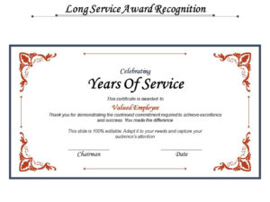 Long Service Award Recognition | Powerpoint Design Template in Long Service Award Certificate Templates