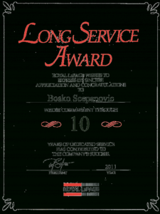Long Service Certificate Template Sample (1) | Professional pertaining to Long Service Certificate Template Sample