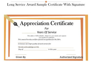 Long Service Certificate Template Sample | Certificate inside Long Service Certificate Template Sample