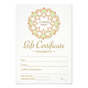 Lotus Healing Arts Gift Certificate | Gift Certificate for Best Yoga Gift Certificate Template Free