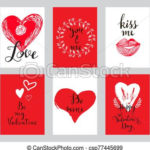 Love Cards Set 7 Pertaining To Valentine Gift Certificates Free 7 Designs
