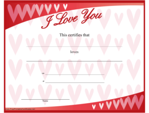 Love Certificate Template Download Printable Pdf in New Love Certificate Templates