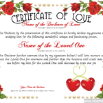 Love Certificate Templates (1) – Templates Example For New Love Certificate Templates