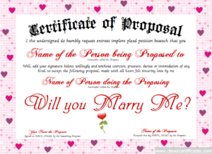 Love Certificate Templates (2) – Templates Example with Love Certificate Templates