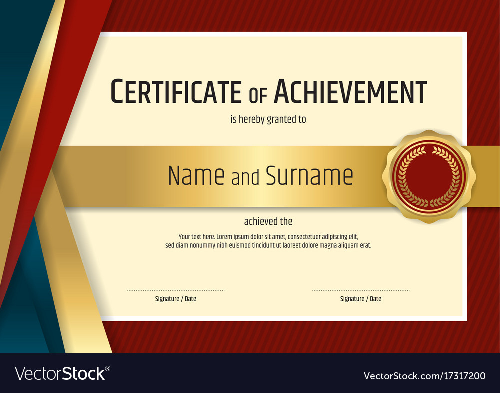 Luxury Certificate Template With Elegant Border Vector Image inside High Resolution Certificate Template