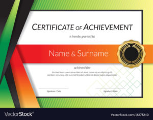 Luxury Certificate Template With Elegant Border Vector Image with High Resolution Certificate Template