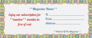 Magazine Subscription Gift Certificate Template (1 regarding Magazine Subscription Gift Certificate Template