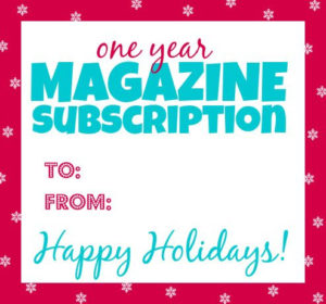 Magazine Subscription Gift Certificate Template | Magazine in Magazine Subscription Gift Certificate Template