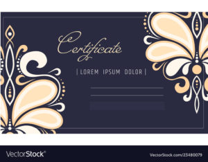 Makeup Certificate Template Beauty School Or Vector Image within Unique Beautiful Certificate Templates