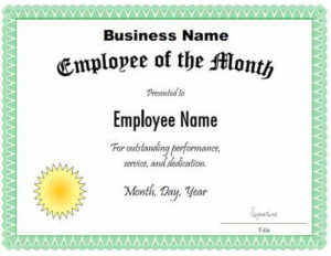 Manager Of The Month Certificate Template In 2020 for Manager Of The Month Certificate Template