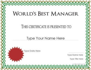 Manager Of The Month Certificate Template In 2020 within Fresh Manager Of The Month Certificate Template