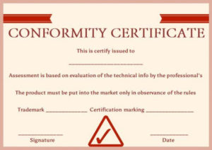 Manufacturing Certificate Of Conformance Template intended for Certificate Of Manufacture Template