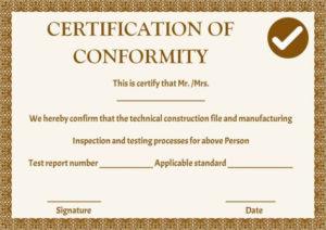 Manufacturing Certificate Of Conformance Templates | Free pertaining to Certificate Of Conformity Template Ideas