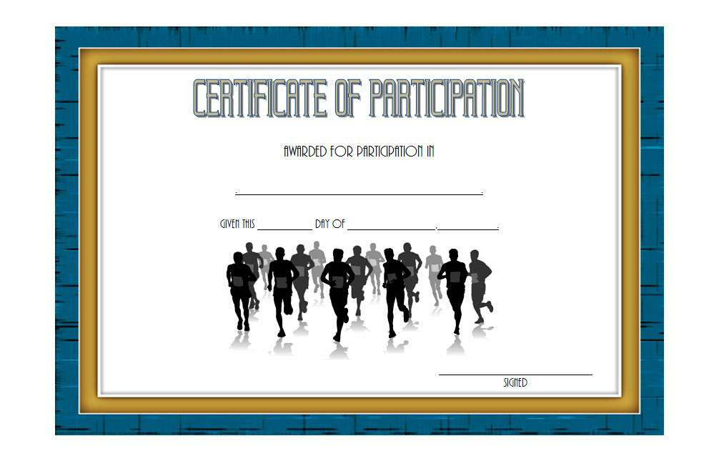 Marathon Participation Certificate Template Free 1 throughout Quality Marathon Certificate Templates