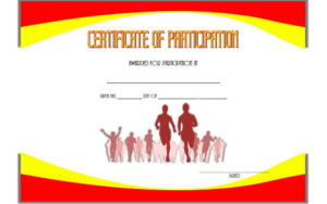 Marathon Participation Certificate Template Free 2 Di 2020 within Marathon Certificate Templates