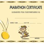 Marathon Participation Certificate Template Free 4 inside Unique Marathon Certificate Template 7 Fun Run Designs